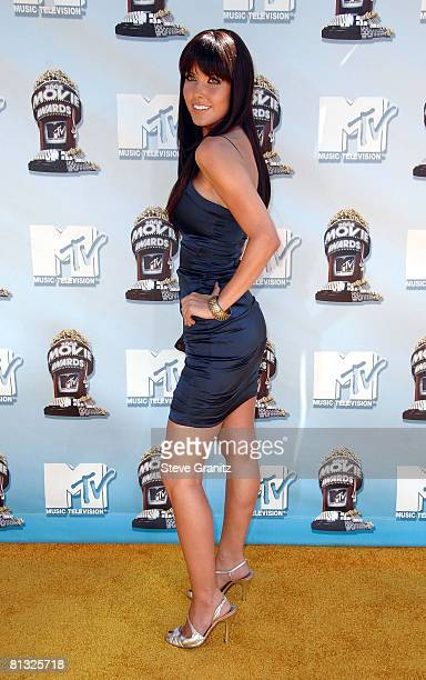 TV personality Audrina Patridge arrives to the 2008 MTV Movie Awards on June 1 2008 at the Gibson Amphitheatre in Universal City California
