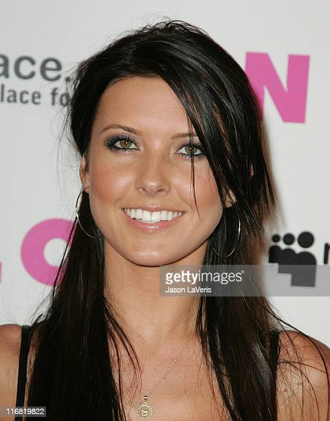 Personality Audrina Patridge attends the Nylon Magazine & MySpace 3D Party on June 3, 2008 in Los Angeles, California.