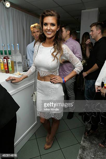 TV personality Audrina Patridge in the green room at the 2014 Young Hollywood Awards brought to you by Samsung Galaxy at The Wiltern on July 27 2014...