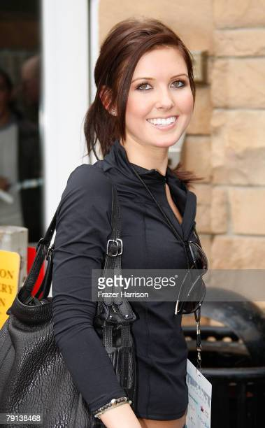 TV personality Audrina Patridge outside a gift lounge during the 2008 Sundance Film Festival on January 20 2008 in Park City Utah