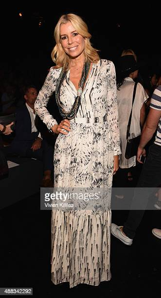 TV personality Aviva Drescher attends Carmen Marc Valvo Women's and Men's Collection S/S 2016 during New York Fashion Week The Shows at The Arc...