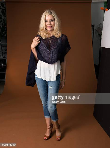 Personality Aviva Drescher is seen on set of the Spring/Summer collection campaign photo shoot for 'Chiel' by designer Danielle Chiel at DPstudioNYC...