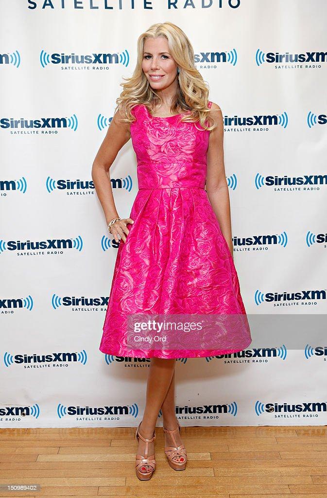 TV personality Aviva Drescher visits the SiriusXM Studio on August 29, 2012 in New York City.