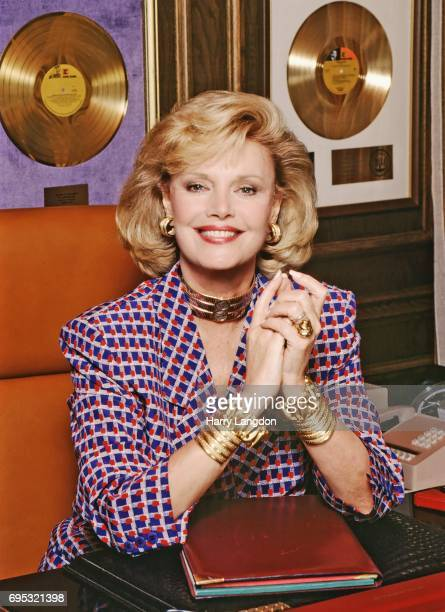 SPRINGS 1985 Personality Barbara Sinatra poses for a portrait in 1985 in Palm Springss California