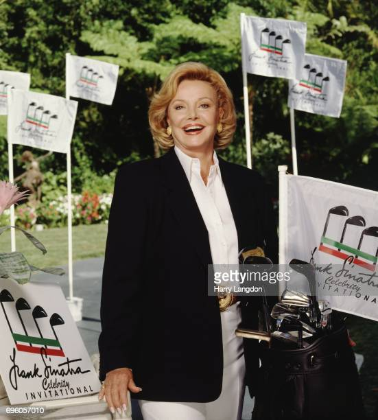 Personality Barbara Sinatra poses for a portrait in 1994 in Palm Springss, California.
