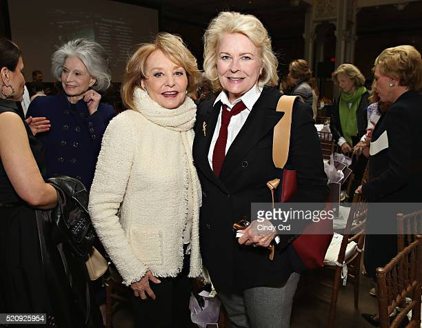 TV personality Barbara Walters and actress Candice Bergen attend the New York Public Library Lunch 2016 A New York State of Mind at The New York...