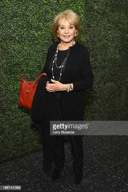 Personality Barbara Walters arrives as Ralph Lauren Presents Exclusive Screening Of Hitchcock's To Catch A Thief Celebrating The Princess Grace...