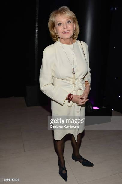 Personality Barbara Walters attends Barneys New York And Disney Electric Holiday Window Unveiling Hosted By Sarah Jessica Parker Bob Iger And Mark...