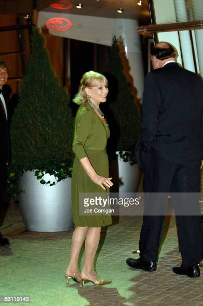 TV personality Barbara Walters attends Howard Stern's and Beth Ostrosky 's wedding at Le Cirque on October 3 2008 in New York City