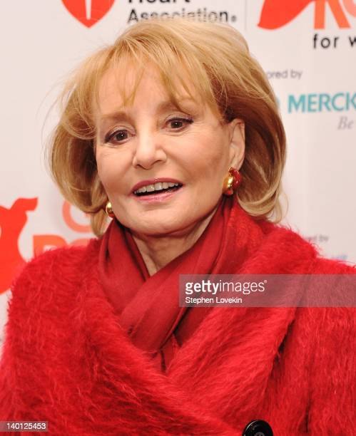 TV personality Barbara Walters attends the American Heart Association's 2012 New York City Go Red for Women luncheon at the Hilton New York on...