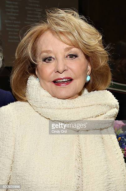 Personality Barbara Walters attends the New York Public Library Lunch 2016: A New York State of Mind at The New York Public Library - Stephen A....