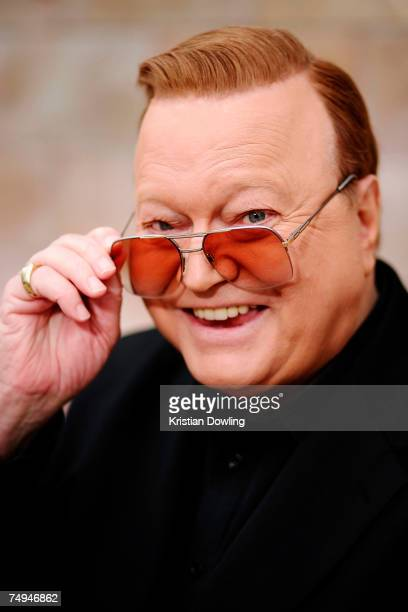 Personality Bert Newton poses offair as part of the Today Show 25th birthday celebrations at Federation Square on June 29 2007 in Melbourne Australia...