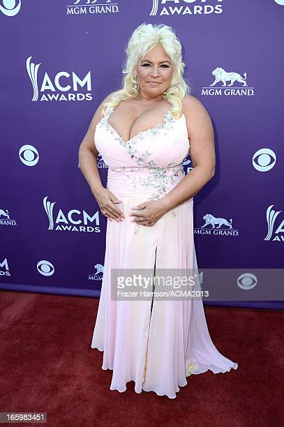 TV personality Beth Chapman arrives at the 48th Annual Academy of Country Music Awards at the MGM Grand Garden Arena on April 7 2013 in Las Vegas...