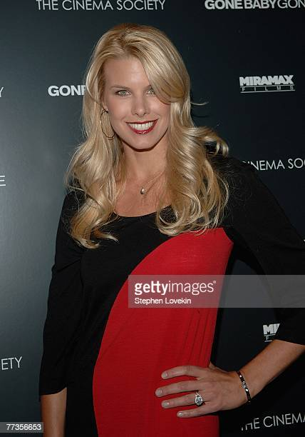 Personality Beth Ostrosky arrives at a special screening of Gone Baby Gone hosted by The Cinema Society and Details Magazine October 16 2007 in New...
