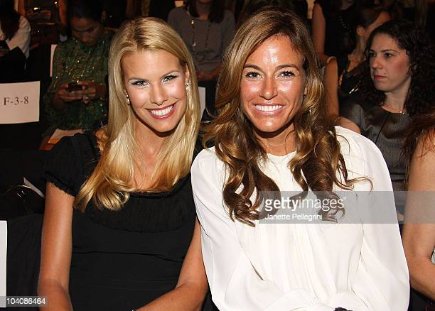 TV personality Beth Ostrosky Stern and Kelly Bensimon attend the Badgley Mischka Spring 2011 fashion show during MercedesBenz Fashion Week at The...