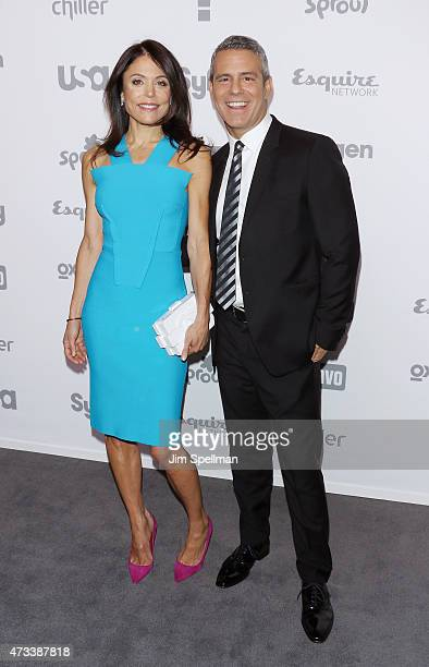 Personality Bethenny Frankel and tv host Andy Cohen attend the 2015 NBCUniversal Cable Entertainment Upfront at The Jacob K Javits Convention Center...