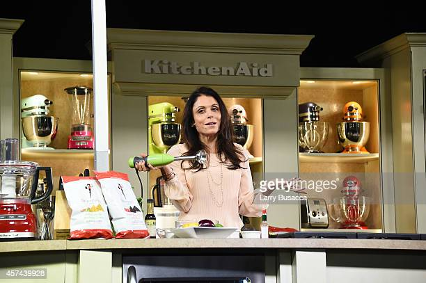 TV personality Bethenny Frankel gives a demonstration of Skinnygirl products on the KitchenAid stage at the Grand Tasting presented by ShopRite...