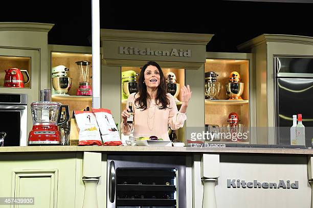 Personality Bethenny Frankel gives a demonstration of Skinnygirl products on the KitchenAid stage at the Grand Tasting presented by ShopRite...