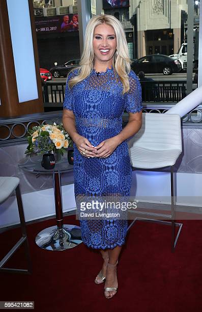 TV personality Bianca de la Garza poses at Hollywood Today Live at W Hollywood on August 25 2016 in Hollywood California
