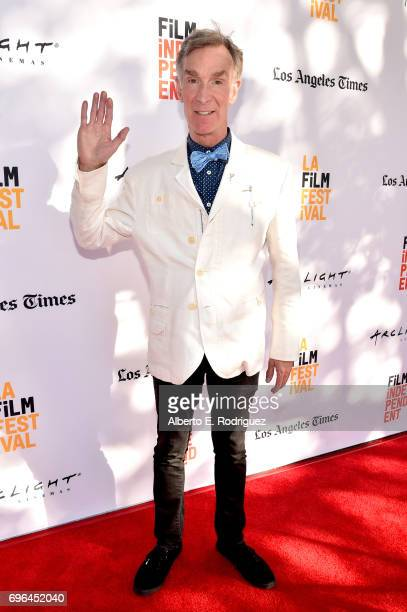 TV personality Bill Nye attends the screening of 'Bill Nye Science Guy' during the 2017 Los Angeles Film Festival at Arclight Cinemas Culver City on...