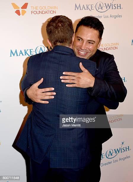 TV personality Billy Bush and former boxer Oscar Dela Hoya attend MakeAWish Greater Los Angeles Honoring Oscar De La Hoya Michael Rosenfeld And Tom...