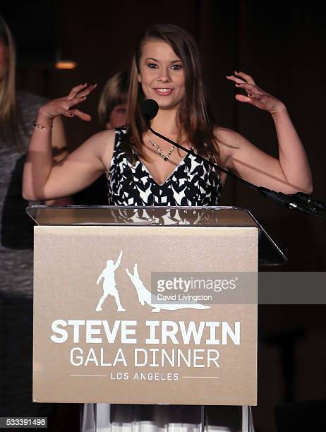 TV personality Bindi Irwin attends the Steve Irwin Gala Dinner at JW Marriott Los Angeles at LA LIVE on May 21 2016 in Los Angeles California