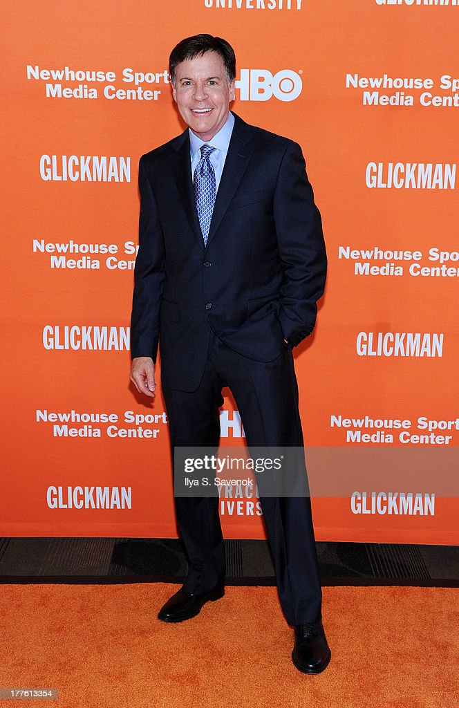 TV personality Bob Costas attends Syracuse University special screening of the HBO documentary 'GLICKMAN' at Time Warner Center Screening Room on August 24, 2013 in New York City.