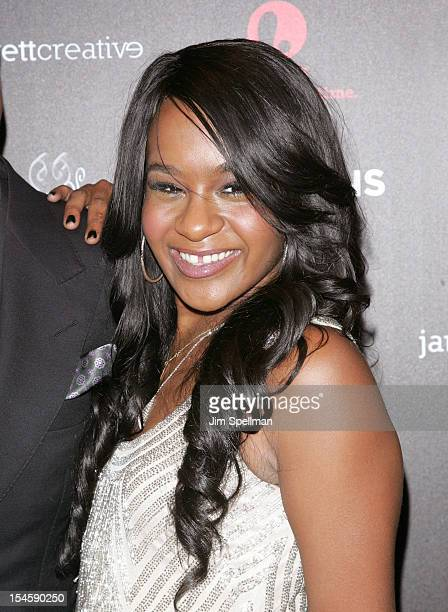 """Personality Bobbi Kristina Brown attends """"The Houstons: On Our Own"""" Series Premiere Party at Tribeca Grand Hotel on October 22, 2012 in New York City."""