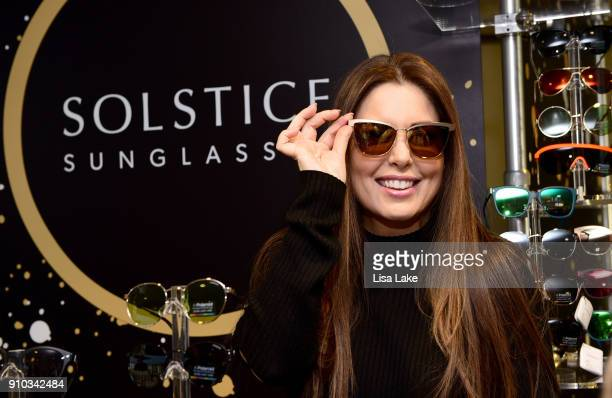 Personality Bobbie Thomas at Solstice sunglasses wearing Polaroid polarized sunglasses during the GRAMMY Gift Lounge during the 60th Annual GRAMMY...