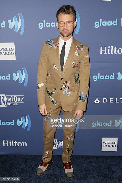 TV personality Brad Goreski arrives at the 26th annual GLAAD media awards at The Beverly Hilton Hotel on March 21 2015 in Beverly Hills California