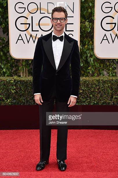 TV personality Brad Goreski attends the 73rd Annual Golden Globe Awards held at the Beverly Hilton Hotel on January 10 2016 in Beverly Hills...