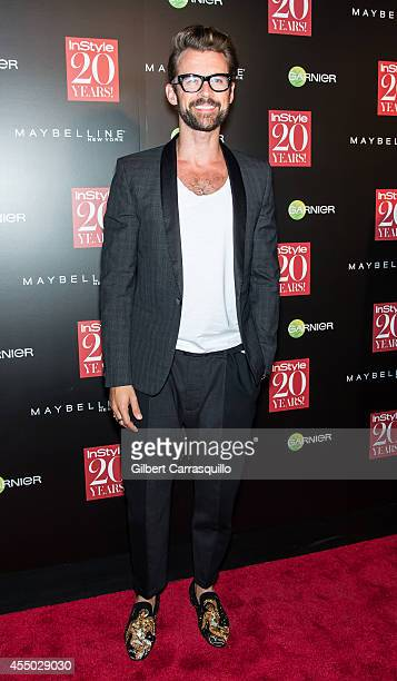 TV personality Brad Goreski attends the Instyle 20th Anniversary Party at Diamond Horseshoe at the Paramount Hotel on September 8 2014 in New York...