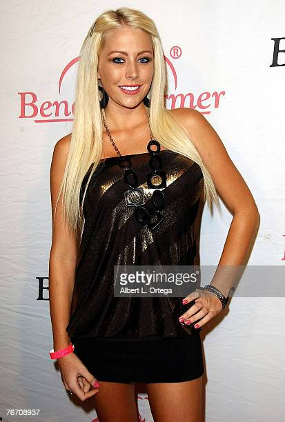 """Personality Brandi C. Of VH-1's """"Rock of Love"""" attend the Bench Warmers Trading Cards Birthday Bash for Founder Brian Wallos at Area in West..."""