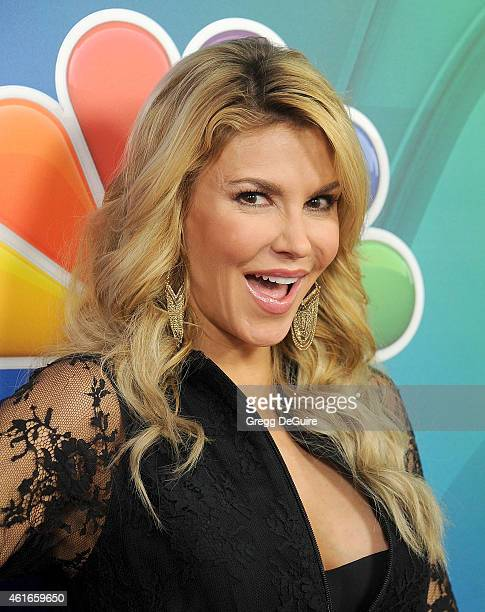 TV personality Brandi Glanville arrives at day 2 of the NBCUniversal 2015 Press Tour at The Langham Huntington Hotel and Spa on January 16 2015 in...