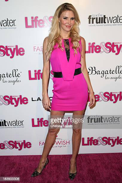 TV personality Brandi Glanville arrives at Life Style's Hollywood in Bright Pink event hosted by Giuliana Rancic at Bagatelle on October 9 2013 in...