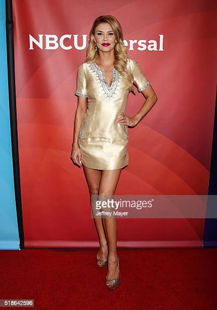 Personality Brandi Glanville arrives at the 2016 Summer TCA Tour - NBCUniversal Press Tour at the Four Seasons Hotel - Westlake Village on April 1,...