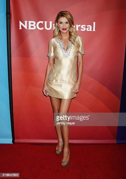 TV personality Brandi Glanville arrives at the 2016 Summer TCA Tour NBCUniversal Press Tour at the Four Seasons Hotel Westlake Village on April 1...