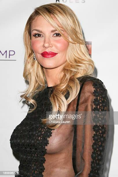 TV personality Brandi Glanville arrives at The Real Housewives Of Beverly Hills and Vanderpump Rules premiere party at Boulevard3 on October 23 2013...