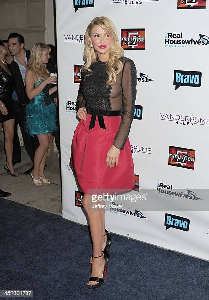 Personality Brandi Glanville arrives at 'The Real Housewives Of Beverly Hills' And 'Vanderpump Rules' premiere party at Boulevard3 on October 23,...