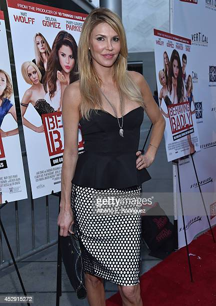TV personality Brandi Glanville arrives to the premiere of Mad Chance's Behaving Badly at the ArcLight Hollywood on July 29 2014 in Hollywood...