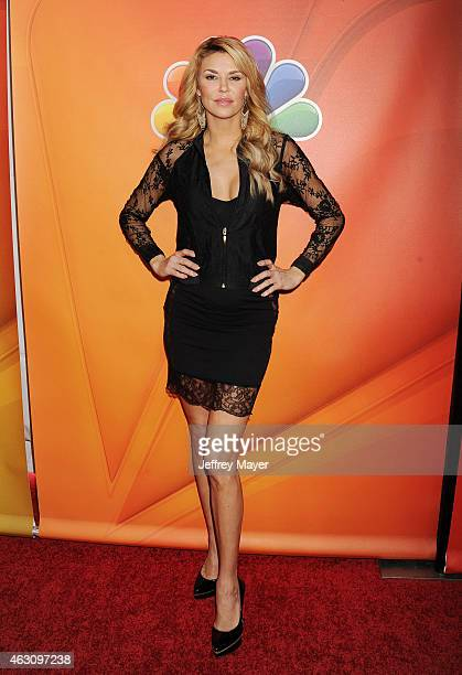 TV personality Brandi Glanville attends the NBCUniversal 2015 Press Tour at the Langham Huntington Hotel on January 16 2015 in Pasadena California