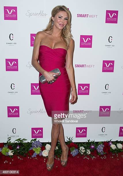 Personality Brandi Glanville attends Vivica A Fox's 50th birthday celebration at Philippe Chow on August 2 2014 in Beverly Hills California
