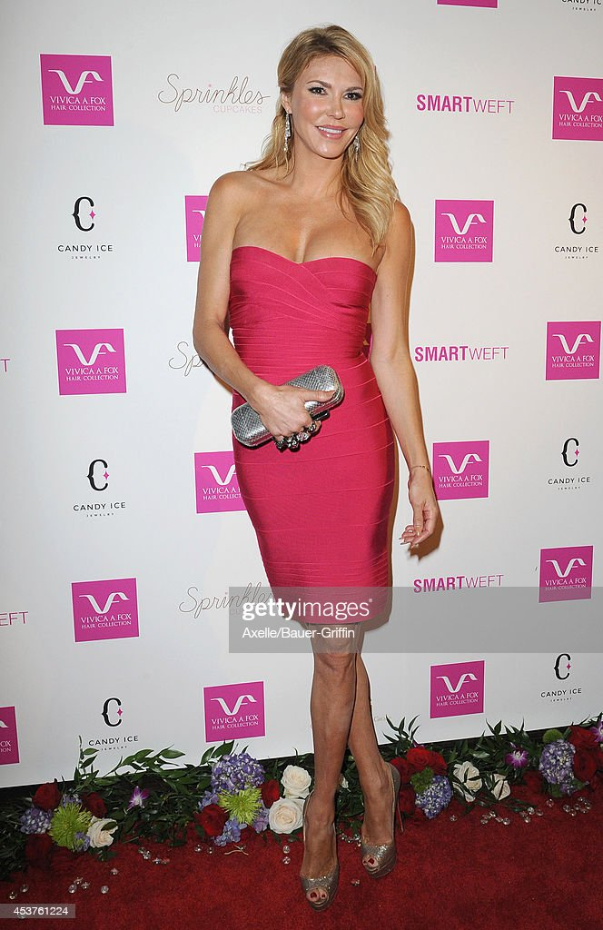 TV personality Brandi Glanville attends Vivica A. Fox's 50th birthday celebration at Philippe Chow on August 2, 2014 in Beverly Hills, California.