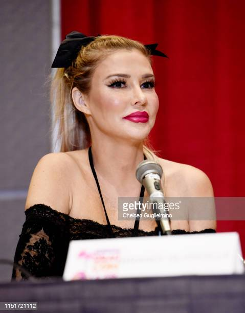 TV personality Brandi Glanville speaks at RuPaul's DragCon LA 2019 at Los Angeles Convention Center on May 25 2019 in Los Angeles California