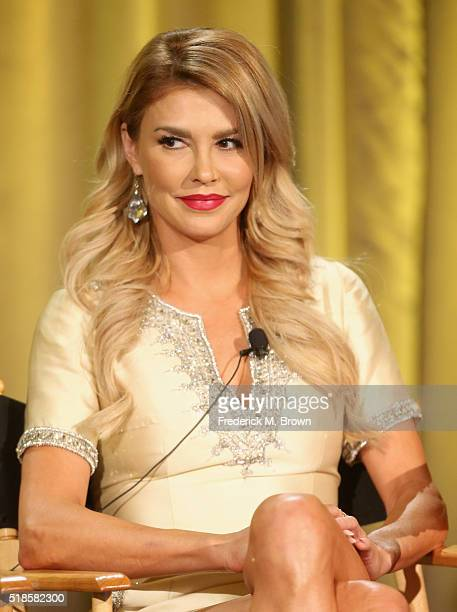 TV personality Brandi Glanville speaks onstage during the 'Famously Single' panel at the 2016 NBCUniversal Summer Press Day at Four Seasons Hotel...