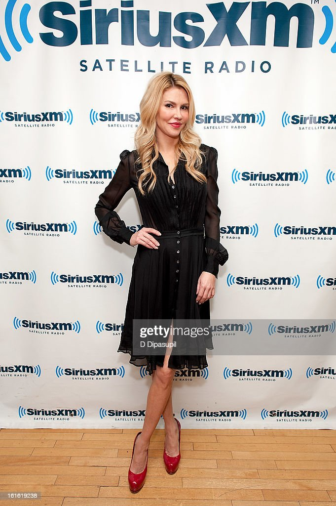 TV personality Brandi Glanville visits SiriusXM Studios on February 13, 2013 in New York City.