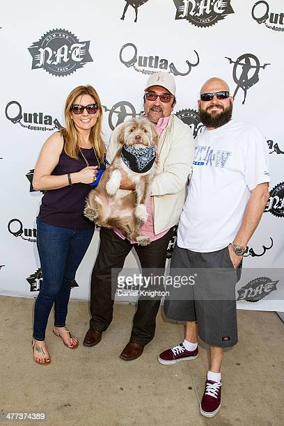 TV personality Brandi Passante actor Daniel Zacapa and TV personality Jarrod Schulz arrive at the Storage Wars Season 4 Premiere Party at Now Then on...