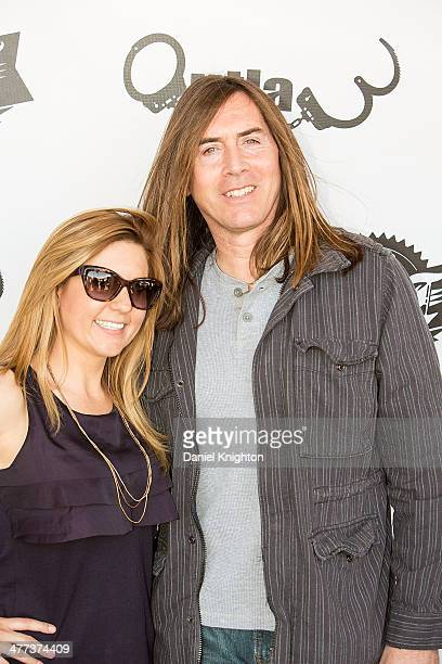 TV personality Brandi Passante and actor Jim Mitchell arrive at the Storage Wars Season 4 Premiere Party at Now Then on March 8 2014 in Orange...