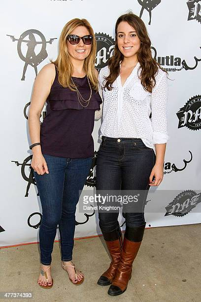 TV personality Brandi Passante and actress Jessica Rosenwald arrive at the Storage Wars Season 4 Premiere Party at Now Then on March 8 2014 in Orange...