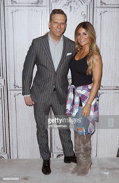 Personality Brian Balthazar and Alison Victoria attend the AOL BUILD Speaker Series at AOL Studios In New York on April 7 2015 in New York City